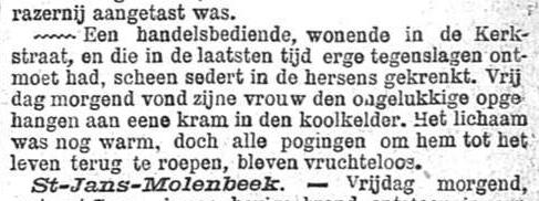 Nieuws van den dag 1899-03-25 in de hersens gekrenkt