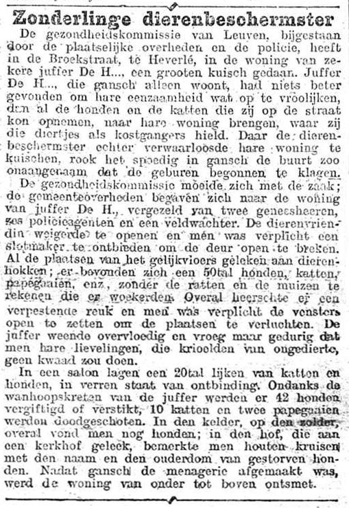 Nieuws van den dag 1907-11-15 gansch de menagerie afgemaakt
