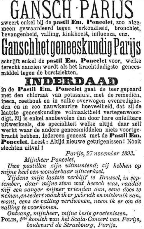 Het Nieuws Van Den Dag, 1 juli 1894 teer plus kaliumchloraat