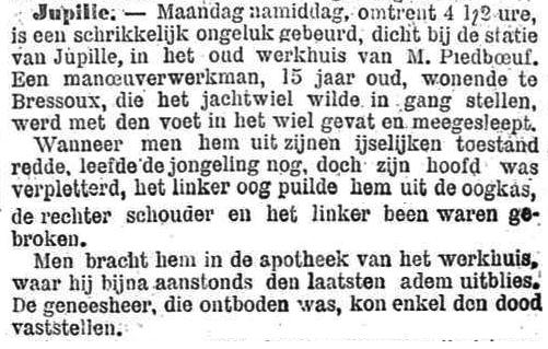 Het Nieuws Van Den Dag, 11 oktober 1894 IJselijke toestand