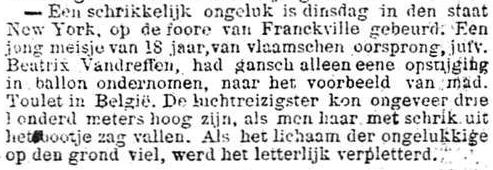 Het Nieuws Van Den Dag, 11 oktober 1894 Letterlijk verpletterd