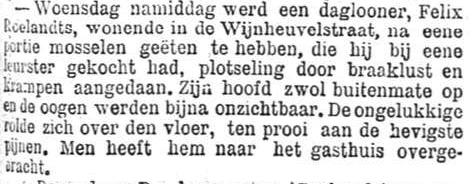 Het Nieuws Van Den Dag, 12 oktober 1894 Braaklust en krampen