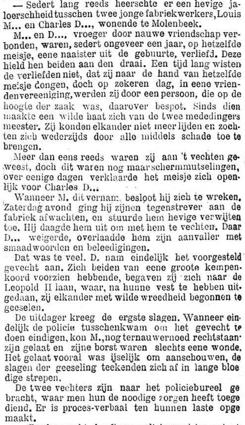Het Nieuws Van Den Dag, 14 augustus 1894 Passioneel drama