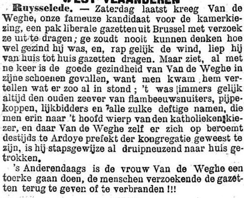 Het Nieuws Van Den Dag, 15 oktober 1894 Flambeeuwsnuiters