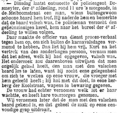 Het Nieuws Van Den Dag, 15 september 1894 Valse baard