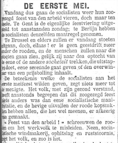 Het Nieuws Van Den Dag 1895-05-01 Socialistische windmakerij, ophitsing en ruststoornis