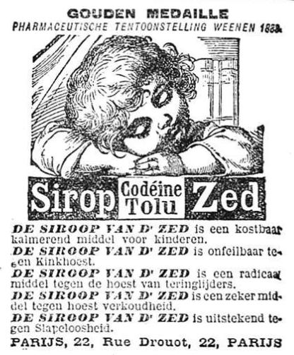 Het Nieuws Van Den Dag, 22 september 1894 Siroop van Dr. Zed