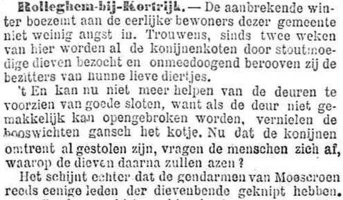 Het Nieuws Van Den Dag,  24 oktober 1894 Eerst kwamen ze voor de konijnen...