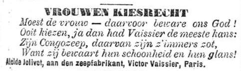 Het Nieuws Van Den Dag, 24 september 1894 Vrouwenkiesrecht