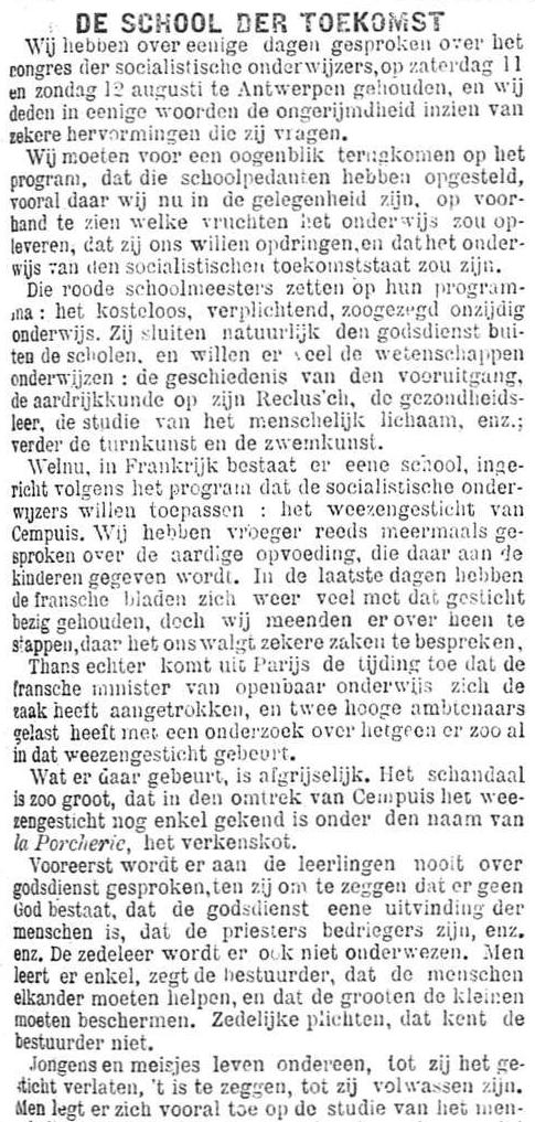 Het Nieuws Van Den Dag, 25 augustus 1894 De school van de toekomst a