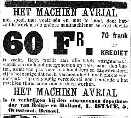 Het Nieuws Van Den Dag,  25 oktober 1894 Het enige machien dat noch vermoeidheid noch ziekte veroorzaakt