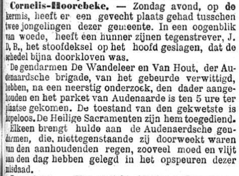 Het Nieuws Van Den Dag,  25 oktober 1894 Niettegenstaande zij doorweekt waren