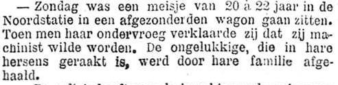 Het Nieuws Van Den Dag, 25 september 1894 In de hersens geraakt