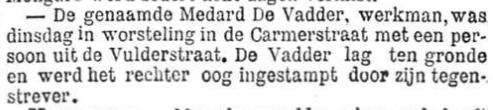 Het Nieuws Van Den Dag, 27 september 1894 De genaamde Medard De Vadder
