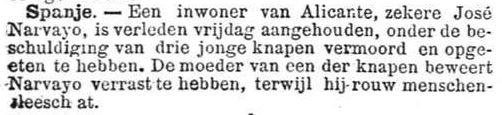 Het Nieuws Van Den Dag, 3 augustus 1894 Rauw mensenvlees