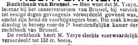 Het Nieuws Van Den Dag, 3 oktober 1894 De hond van Eugène Isaÿe