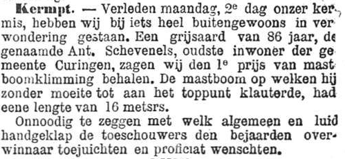 Het Nieuws Van Den Dag, 3 september 1894 86 jaar - hoera!