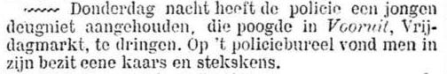 Het Nieuws Van Den Dag, 4 februari 1899 Deugniet