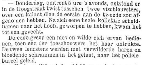 Het Nieuws Van Den Dag, 6 oktober 1894 Viswijven