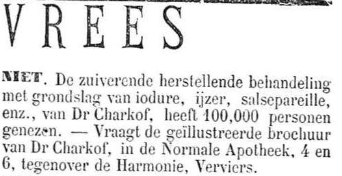 Het Nieuws Van Den Dag, 7 augustus 1894 Vrees (niet)