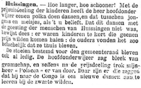 Het Nieuws Van Den Dag, 7 september 1894 Belachelijk dansen