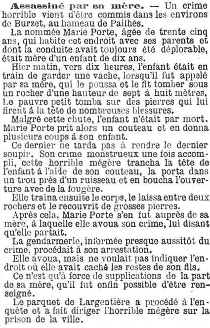 L'Indépendence belge, 28 augustus 1894 Horrible mégère