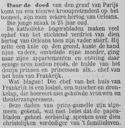 Vooruit, 12 september 1894 Troonpretendent