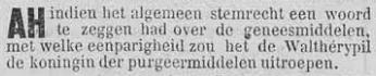 Vooruit, 5 september 1894 Koningin van de purgeerpillen