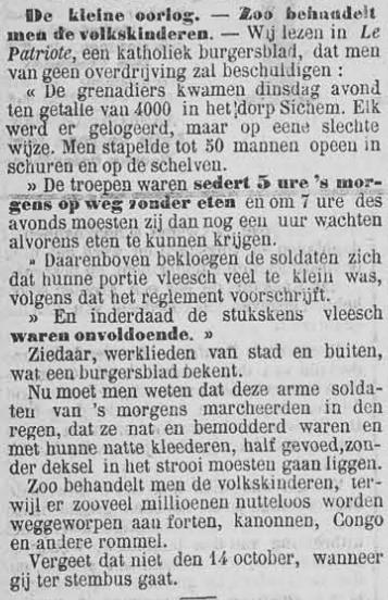 Vooruit, 6 september 1894 Zó wordt de kleine man behandeld