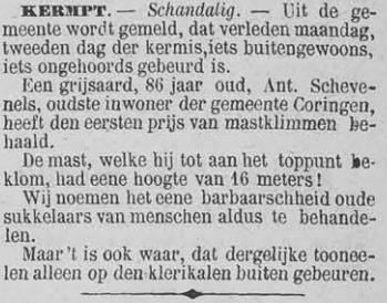 Vooruit, 8 september 1894 86 jaar oud - schandalig