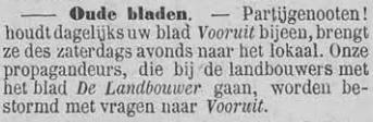 Vooruit, 8 september 1894 Oude bladen