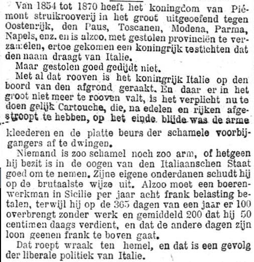 Het Nieuws Van Den Dag, 13 november 1894 De struikrovers van Piemont