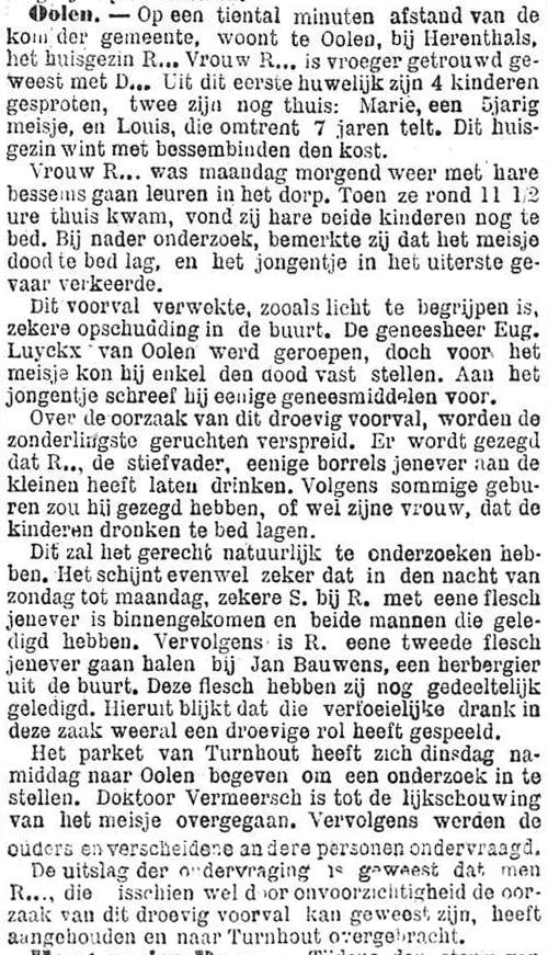 Het Nieuws Van Den Dag, 15 november 1894 Verfoeilijke drank
