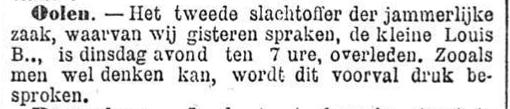 Het Nieuws Van Den Dag, 16 november 1894 Olen, vervolg
