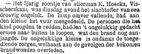 Het Nieuws Van Den Dag, 16 november 1894 Ongelukkig gedacht
