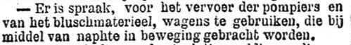 Het Nieuws Van Den Dag, 29 november 1894 Naphte-wagens