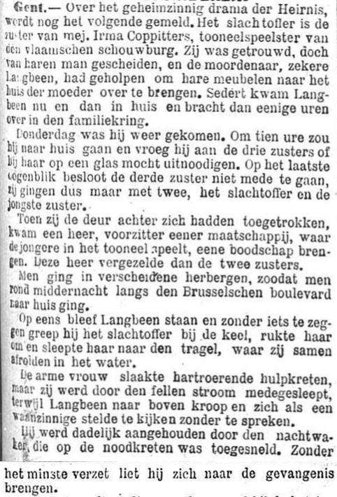 Het Nieuws Van Den Dag,  4 november 1894 Langbeen