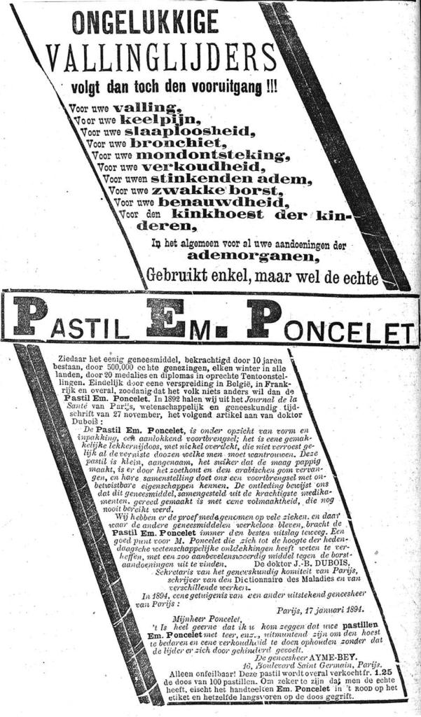 Het Nieuws Van Den Dag,  6 november 1894 500.000 echte genezingen