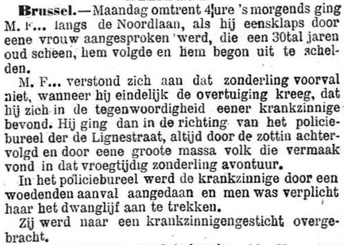 Het Nieuws Van Den Dag,  6 november 1894 Naar het krankzinnigengesticht!