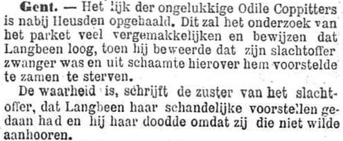 Het Nieuws Van Den Dag,  6 november 1894 Schandelijke voorstellen