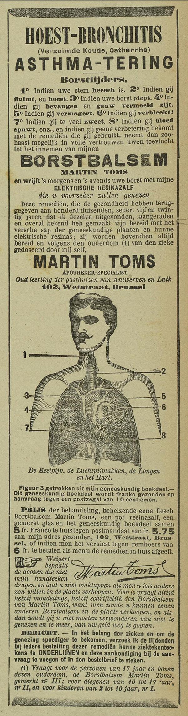 Het weekblad van Yperen en het arrondissement, 1 april 1905 Met het verse sap van geneeskundige planten en hun elektrische resines