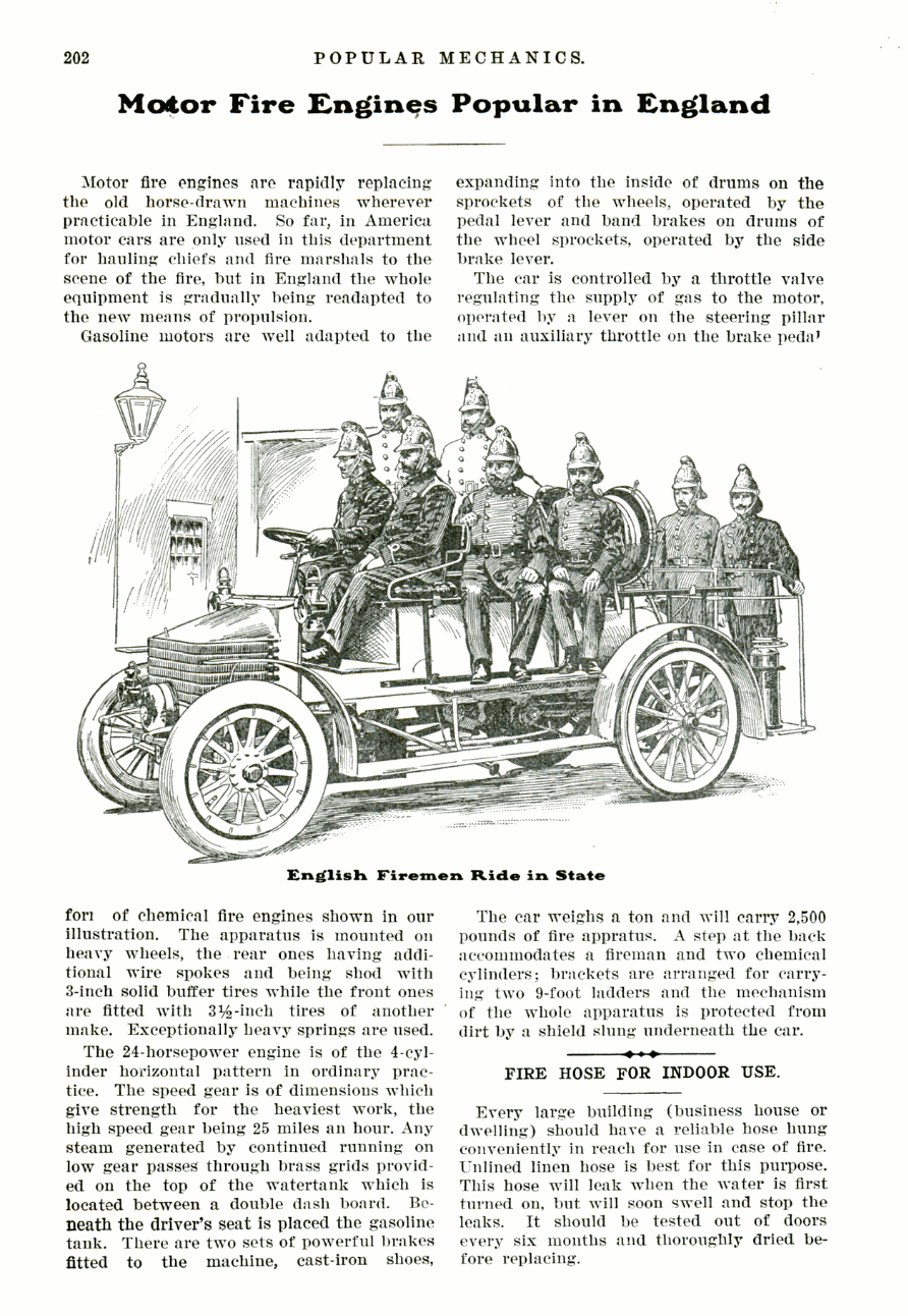Popular Mechanics, februari 2015 Motor Fire Engines
